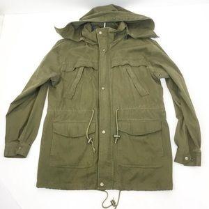vintage parka field military green utility jacket